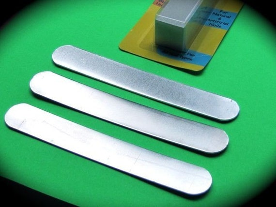 "DEALS Hard Temper 1"" x 6"" 14 Gauge 5 Cuffs Raw Untumbled Pure Aluminum Cuff Bracelet Blanks  - FLAT"