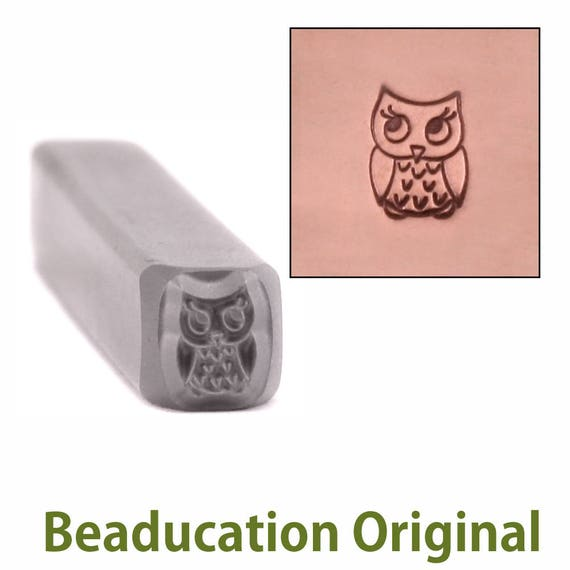 Baby Owl Metal Stamp Design Stamp 4mm wide by 5.5mm high - Beaducation Original