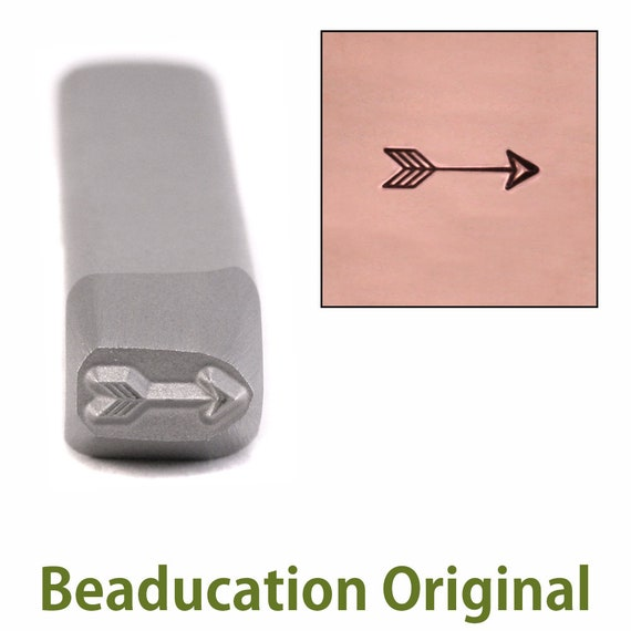 Small Classic Arrow Metal Design Stamp 6.5mm wide by 2.2mm high - Beaducation Original
