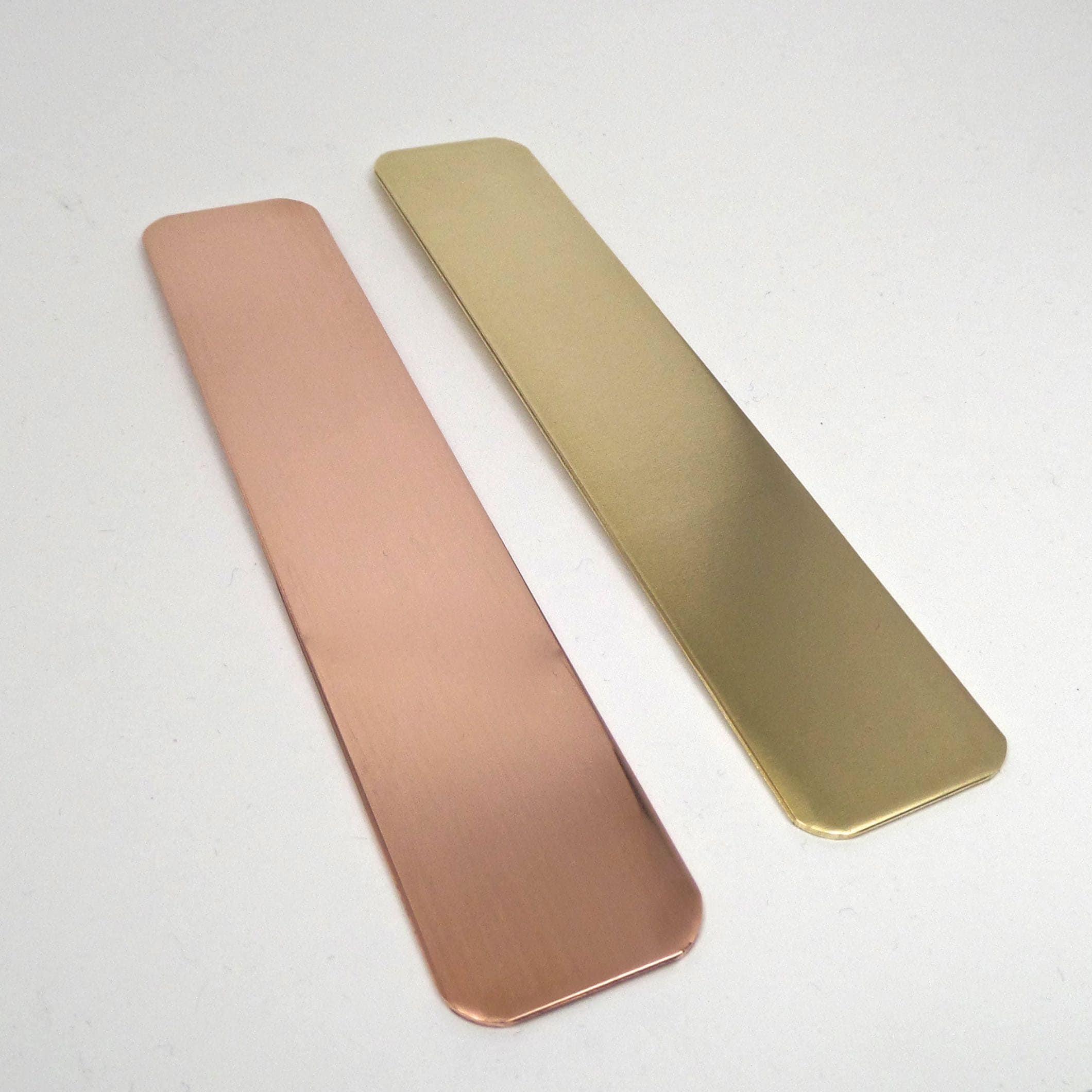 50 argent Clip Clip Clip blancs cuivre ou en laiton 18 jauge brute inachevée de bijoutier seulement 1 x 5 pouces plat 5afd0d