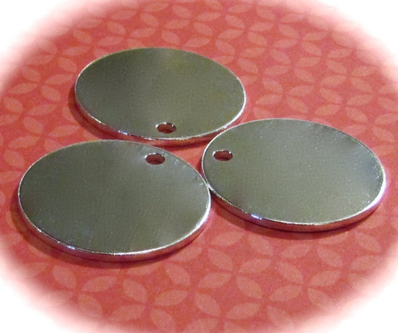 "10 Aluminum Discs 1.25"" 14 Gauge Blanks Hole Punching and Polishing Available 1100 Pure Food Safe Metal - 10 Discs"
