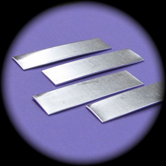 "100 Blanks 1/2"" x 2"" 14 Gauge Aluminum RAW Rectangles 3003 Commercially Pure Aluminum - Made in USA"