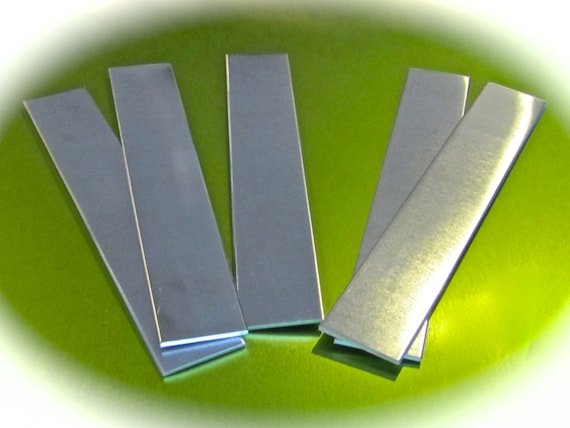 "6 RAW 1 x 6""  14G Square Corners Bracelet Blank Cuffs 1100 Pure Aluminum (2.54 x 15.24cm) - FLAT- Remove Protective Film"