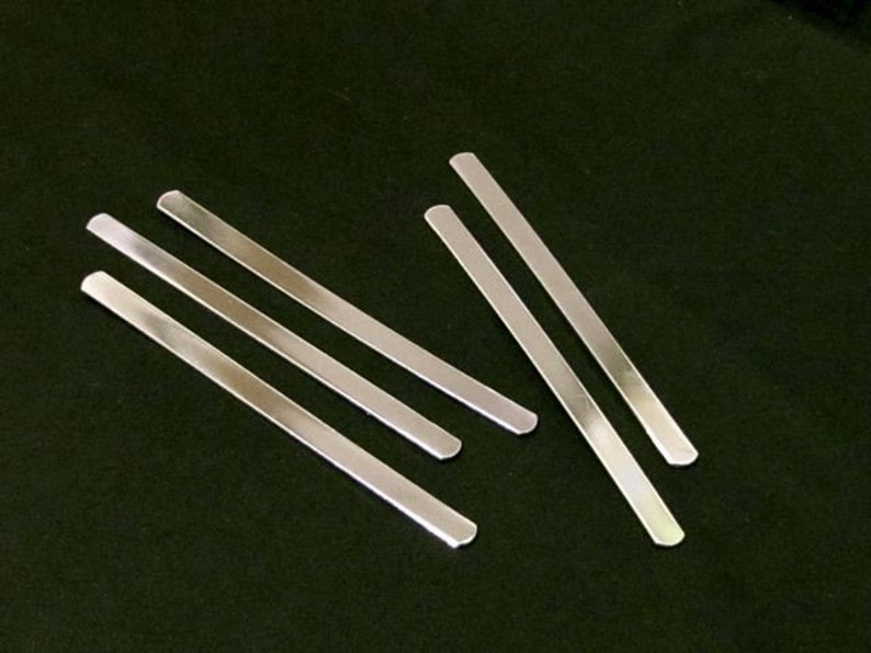 50 Cuff Blanks 38 x 4 14G and other lengths 14G Tumble Polished or RAW Unfinished Pure Aluminum Stamping Blank Bracelet Flat .95cm wide