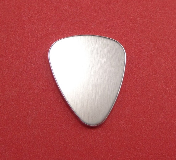 "100 Guitar Pick Blanks 14 Gauge Polished 3003 Aluminum 1"" x 1.2"" or 25mm x 30mm - Lead Free"