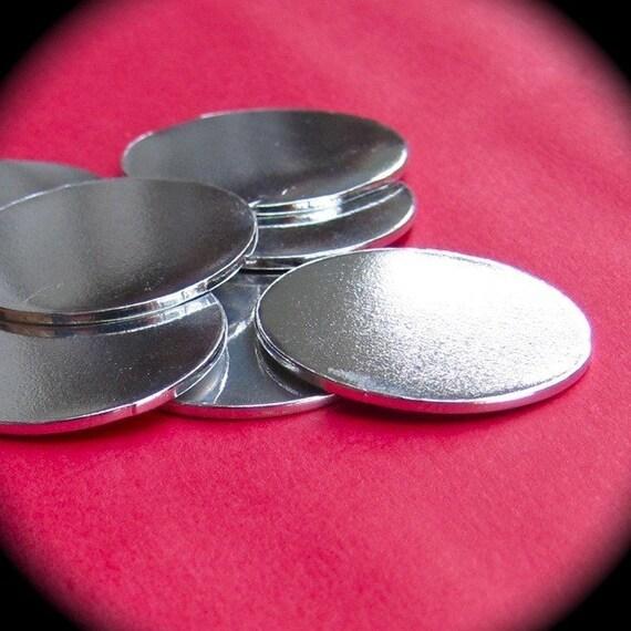"DEALS 20 Discs 1"" 14 Gauge 3mm Hole Polished Pure Food Safe Aluminum - End of Stock"