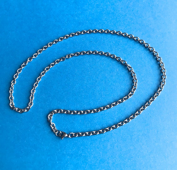 "DEALS - Link Chain 21"" in Surgical Steel 316L 1 necklace per order All Links are open which allows for adjustments"