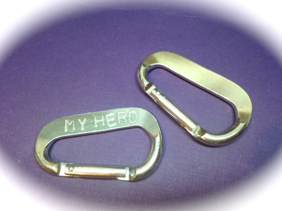 "SALE 20 Blanks Carabiner for Stamping or Engraving 6.5cm x 3.8cm (2.5"" x 1.5"") High Quality Commercial Grade Aluminum"