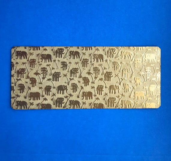 "Elephant Rolling Mill Texture Plate Pattern 2.5"" x 6"" Brass Texture Plates 24 Gauge Thick"