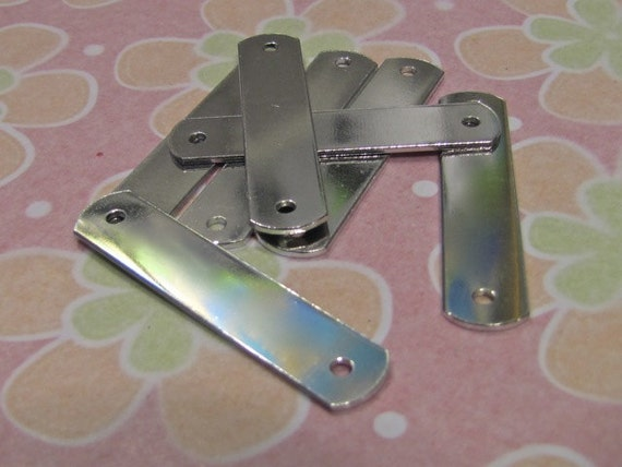 "30 Blanks 3/8 x 2"" ID Tags Polished 14 Gauge Pure Food Safe Aluminum 3mm Holes 30 Tags"