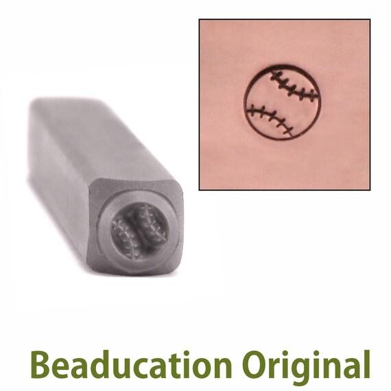 Baseball Metal Design Stamp 4.5mm wide by 5.5mm high - Beaducation Original