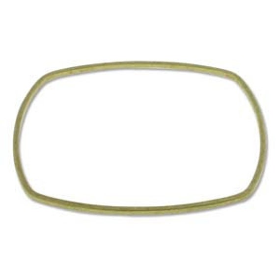 """DEALS 7 Piece Square Brass Bangle Set Antiqued Flat Finish Inner Diameter 2.4"""" (59mm) 1/8"""" Thick 3mm thick Stackable"""