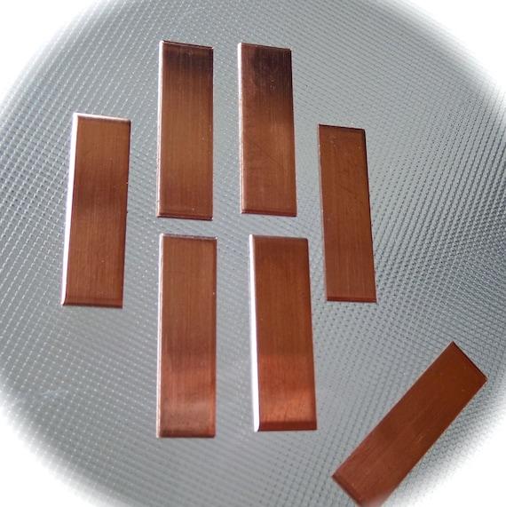 30 - 1/2 x 2» inachevé cuivre brut - épaisseur de calibre 18