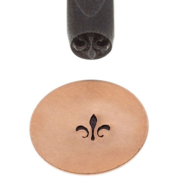 Fleur de lis Design Stamp 5mm Design - Elite Metal Stamp Punch
