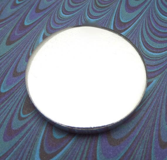 "5 Blanks 1.25 Inch Discs 8 Gauge Pure Food Safe Metal Almost 1/8"" or 3.2mm Thick - 5 Discs"