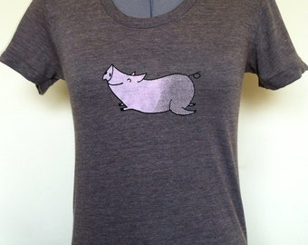 Womens FLYING PIG T Small Medium Large XLarge