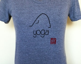 Yoga Shirt-Yoga Tshirt-Yoga Tee-Cotton Shirt-Cotton Tshirt-Womens Shirt-Womens Tshirt-Yoga Clothing