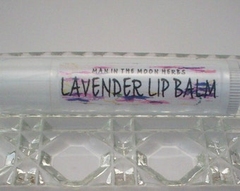 Lavender Lip Balm -  Lavendar Essential Oil Aromatherapy - All Natural Lip Balm - Lip Moisturizer