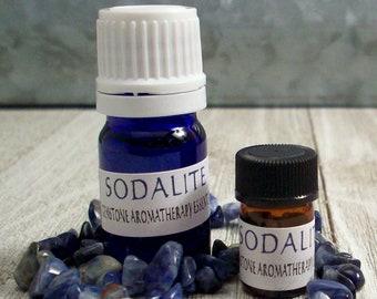 Sodalite Gemstone Essential Oil - 5/8 Dram or 5 mL - Aromatherapy Diffuser Oil