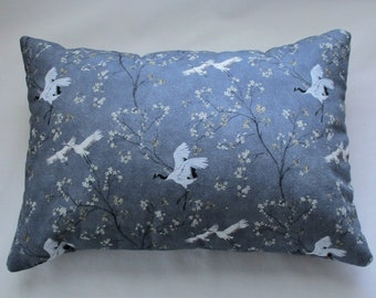 Buckwheat Pillow with or without Lavender - Cranes and Cherry Blossoms