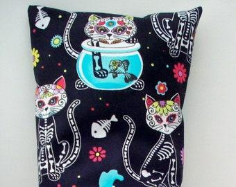Day of the Dead Catnip Filled Kick Stick - Sugar Skulls Cat Toy - Halloween Cats