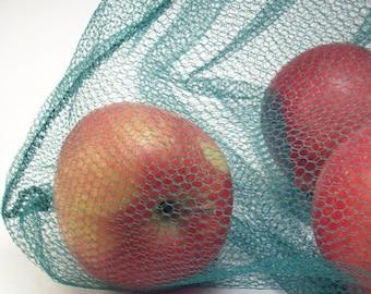 Reusable Produce Bags - Earth Friendly Washable Farmers Market Bags - Eco Friendly Kitchen - Set of 2 Unpaper Towel Storage