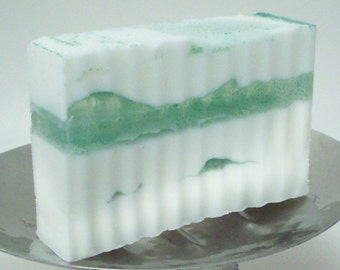 Avalon Soap -  Cocoa Butter and Glycerin Soap - Patchouli Musk Sandalwood - Sensuous Layered  Natural Soap