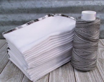 Variegated Paperless Towels - Black, Gray and White