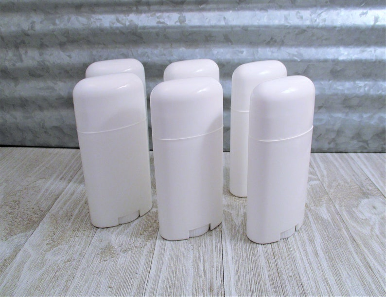 6 Empty Deodorant Tubes - Lotion Bar Containers