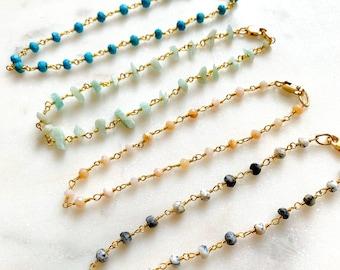 Rosary Gemstone Bracelet