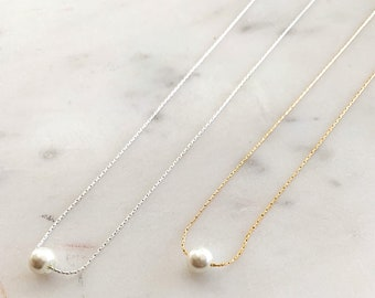Petite Pearl Necklace- Perfect Bridesmaid Necklace!