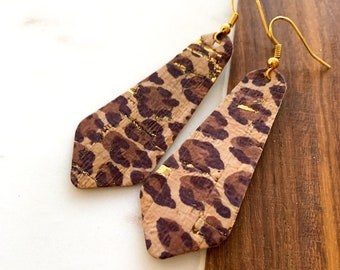 Bell Shape Cork Earrings- Additional colors available