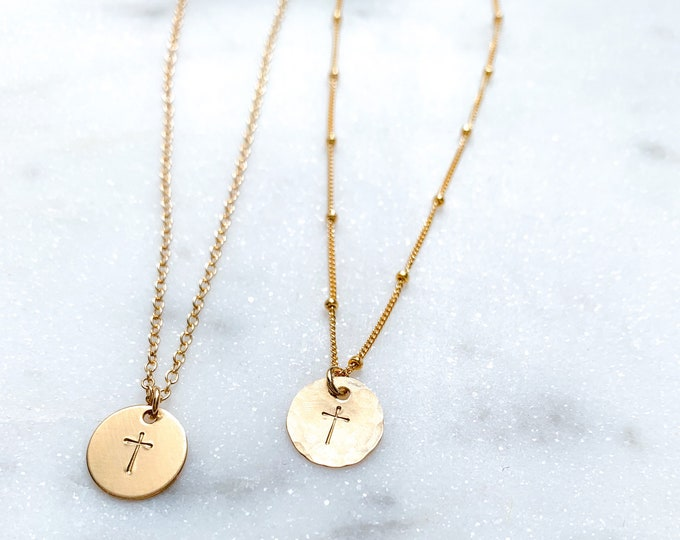 Featured listing image: Minimalist Cross Necklace