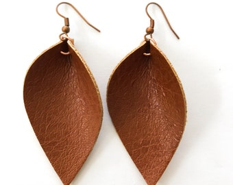 Tulip Leather Earrings- As seen on Joanna Gaines!