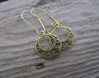 Filigree Earrings- Available in Gold and Silver