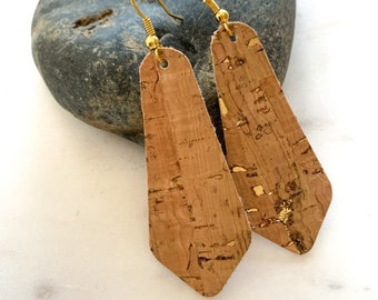 Bell Shape Cork Earrings