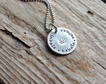 Inhale, Exhale, Repeat Necklace- Yoga Necklace