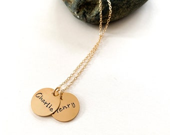 The Lucy Necklace- Gold Filled Disks