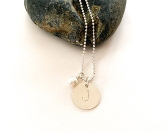 Simple Initial Necklace- Perfect Bridesmaid gift!