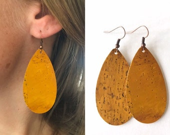 Cork Drop Earrings- Many colors available!