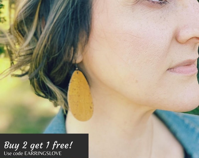 Featured listing image: Buy 2 get 1 Free! Cork Drop Earrings- Many colors available!