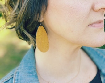 Cork Drop Earrings- Additional colors available!