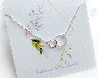 Double Circle Link Necklace