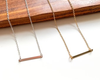 Skinny Bar Necklace, bar necklace,gold bar necklace, layering necklace, layering, simple gold necklace, everyday necklace, simple jewelry