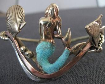 MERMAID bracelet wristlet bronze copper silver