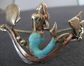 Mermaid bracelet bronze copper silver