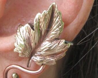 EAR CUFF leaf & vine-  ear wrap, ear wire