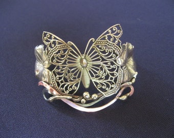 BUTTERFLY filigree bracelet cuff
