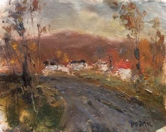 Rural road near Village in Autumn, Berkshires