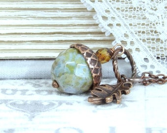 Woodland Pendant Necklace Acorn Necklace Acorn Gift Autumn Acorn Necklace Fall Jewelry